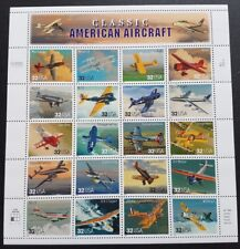 USA 1996 Classic American Aircraft 20v Stamps Full Pane Mint NH