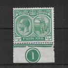 ST KITTS-NEVIS SG37 1921 KGV 1/2d blue-green MINT MH