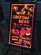 "Flashing Illuminated Erasable Neon LED Message Writing Board Menu Sign 16""x24"""