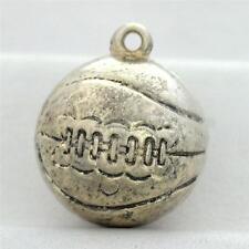 Vintage Sterling Silver Basketball Charm for Bracelet or Pendant 925 2.3g M-022