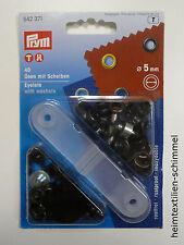 PRYM Ösen mit Scheiben Öse 5mm brüniert/schwarz 542371