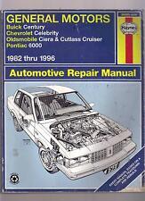 General Motors USED Auto Repair Manual 1982-1996 Century Celebrity Ciera 6000