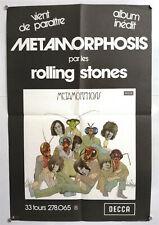 THE ROLLING STONES – METAMORPHOSIS – AFFICHE PROMO ORIGINALE - TRÈS RARE – 1975