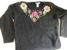 Vintage The Glory B by Gloria Furman Lambwool Angora Rabbit Silk Sweater Rare M