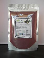 ACAI Assai powder berry 8oz 1/2lb Superfood anti-age protein detox fib OM3 Vigor