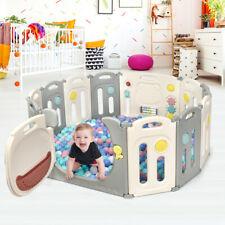 Parque Infantil Plegable con 12 Paneles de HDPE Centro de Actividad para Niños