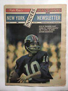 1971 Kyle Rote's New York Jets Giants Insiders Newsletter Fran Tarkenton Cover