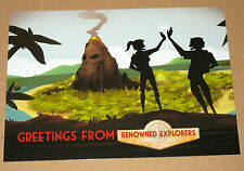 Renowned Explorers International Society promo PostCard Card Post Karte Gamescom