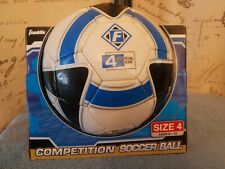 Franklin Size 4 Soccer Ball Ages 8-12 Blue White Black