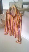 Bluse, Street One, Streifen, figurbetont, Gr. 44, Baumwolle, neuwertig