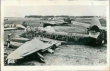 1941 World War II Aircraft Destroyer in Air Combat Original News Service Photo