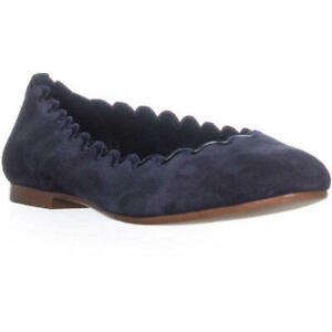 DKNY Womens Willow Leather Closed Toe Ballet Flats, Blue, Size 5.5 yTGL