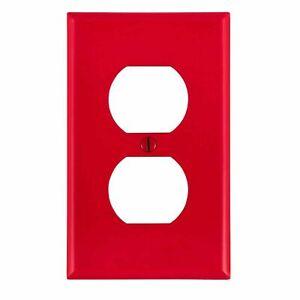 Leviton 80703-R 1-Gang Duplex Receptacle Wallplate, Standard Size, Thermoplas...