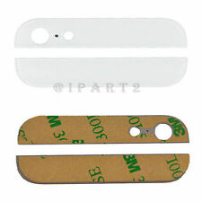 Back Cover Case Up & Down Edge Glass Replacement for Apple iPhone 5 5G (White)