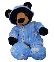 "BLUE SNOWMAN ALL-IN-ONE PJ - TEDDY BEAR CLOTHES FITS 16"" /40cm TEDDY BEARS"