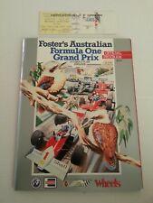 1986 AUSTRALIAN GRAND PRIX F1 PROGRAMME + TICKET - ADELAIDE (Formula 1)
