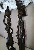 Coppia Statue, Statuine, Africane, legno