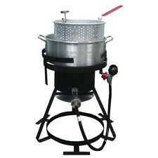 Deep Fryer Fish Wings Outdoor Cooker BBQ Propane Chicken Turkey Pot Basket Cajun