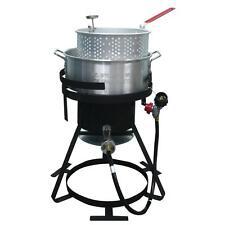 Deep Fryer Fish Wings Outdoor Cooker BBQ Propane Chicken Turkey Pot Basket Cajun