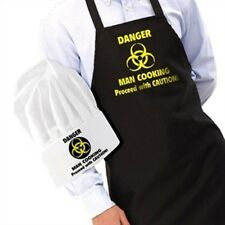IGGI DANGER MAN COOKING 100% Cotton Apron and Chef's Hat Fun Gift BBQ
