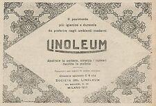 Z0743 LINOLEUM il pavimento più igienico - Pubblicità del 1925 - Advertising