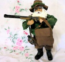 "Rare Vintage Old Mountain Man Gun Hat Canteen Pack Boots White Beard 10"" Tall"