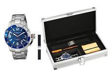 Stuhrling 676 02.SET Aquadiver Swiss Quartz Interchangeable Strap Mens Watch Set