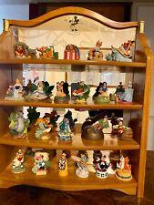 Disney Lenox Thimble Figure Set and Mirror Display 23 Collectible Figurines