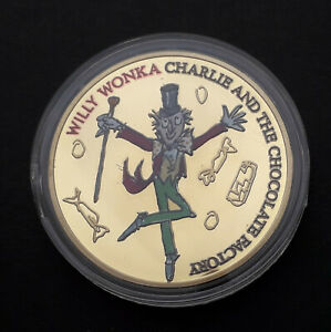 2017 Roald Dahl Charlie and the Chocolate Factory coin medalion (44 mm)
