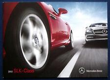 Prospekt brochure 2012 mercedes slk-class * SLK roadster (Estados Unidos)