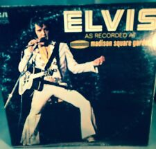 "ELVIS Recorded  LIVE At MADISON SQUARE GARDEN 12"" LP 1972 RCA 4776"