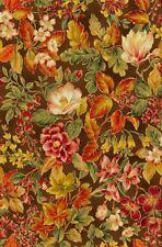 Metallic Brown Floral Autumn Quilt Fabric - 1 Yard