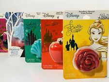 Disney Princess Lip Gloss / Balm Lot Mermiad Frozen Snow White Beauty Beast New