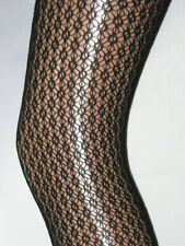 Black Patterned Ladies Tights 10-14. Lace smart