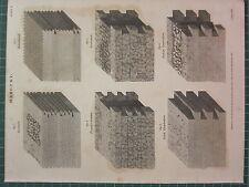 1816 fechado Antiguo impresión ~ mampostería diversas políticas de contratacióny isodomum Romano emplection
