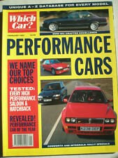 Which Car? Performance Cars guide magazine Feb 1993