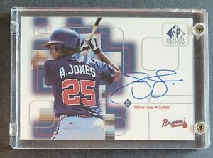 1999 Andruw Jones Signed Upper Deck (SP Signature Edition) Braves Certified AUTO