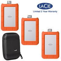 LaCie Rugged USB-C External Hard Drive USB 3.0 + Manufacturer Warranty