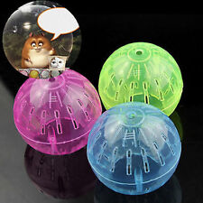 PET RODENT MICE JOGGING HAMSTER GERBIL RAT TOY PLASTIC EXERCISE BALL LOVELY _GG