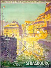 Imprimé Poster Voyage ALSACE Blumer CHEMINS FER LORRAINE STRASBOURG fer nofl1080
