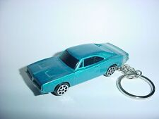 NEW 3D BLUE 1969 DODGE CHARGER R/T CUSTOM KEYCHAIN KEY keyring mopar HEMI RT 69'
