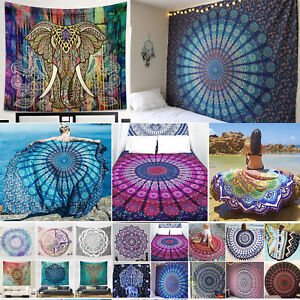 Mandala Tapestry Bohemian Indian Throw Yoga Beach Towel Blanket Mat Bedspread US