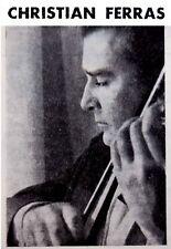 1964 Photo CHRISTIAN FERRAS Program VIOLIN CONCERT Mozart RAVEL Mahler SPIREA