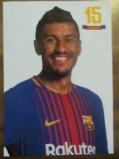 Autogrammkarte AK *PAULINHO* FC Barcelona FCB Saison 17/18 2017/2018 Brasilien