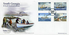 South Georgia & Sandwich Is 2015 FDC Viola Dias Trawlers 4v Cover Ships Stamps