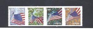US Scott # 4774 - 4777  4777a  Forever Flag For All Sea