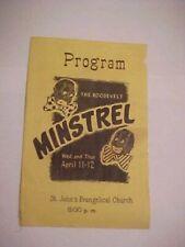 vintage roosevelt minstrel program st johns evangelical evansville indiana
