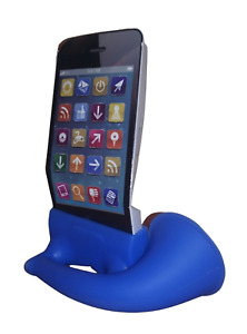 Silicone Mobile Phone Speaker for iPhone 4/4S - Blue D4409