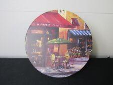 "12"" x 6"" Round Le Market Cafe Decorative Hat Storage Box"