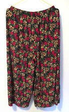 Confort Collants Pantalon XL 42-44 Culotte 3/4 Motif à Fleurs Grand Mode